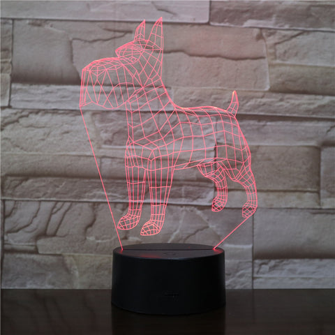 3D Led Night Lights Animal Dogs 7 Colors Changing Doberman Novelty Child Home Pinscher Luminaria Table Lamp Decor Gifts 2081