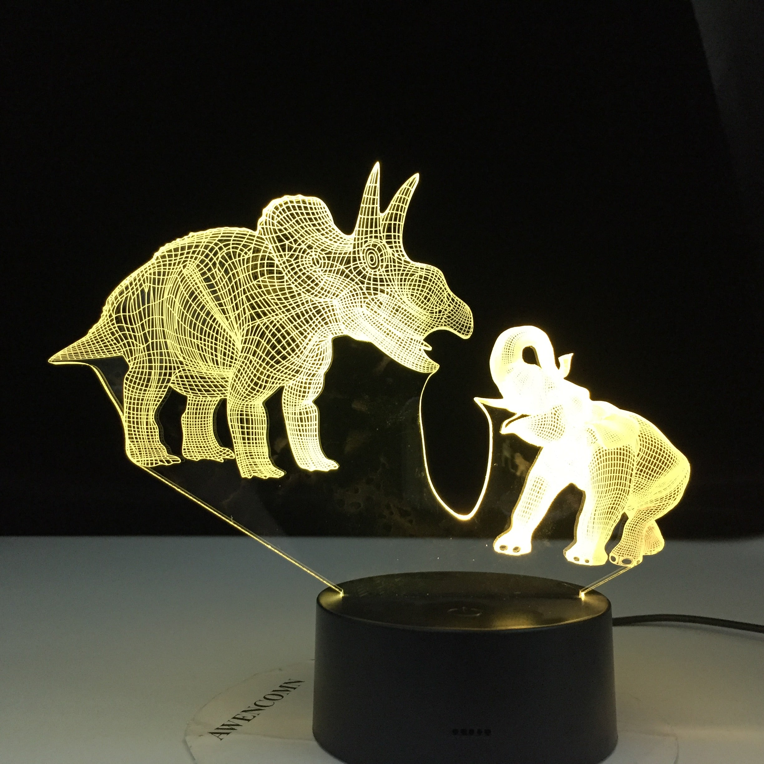 Dinosaur and Elephant Series 7/16 Colors Change LED Table Desk Lamp Kids Gift Home Decoration Touch Led Lamp 3D Night Light
