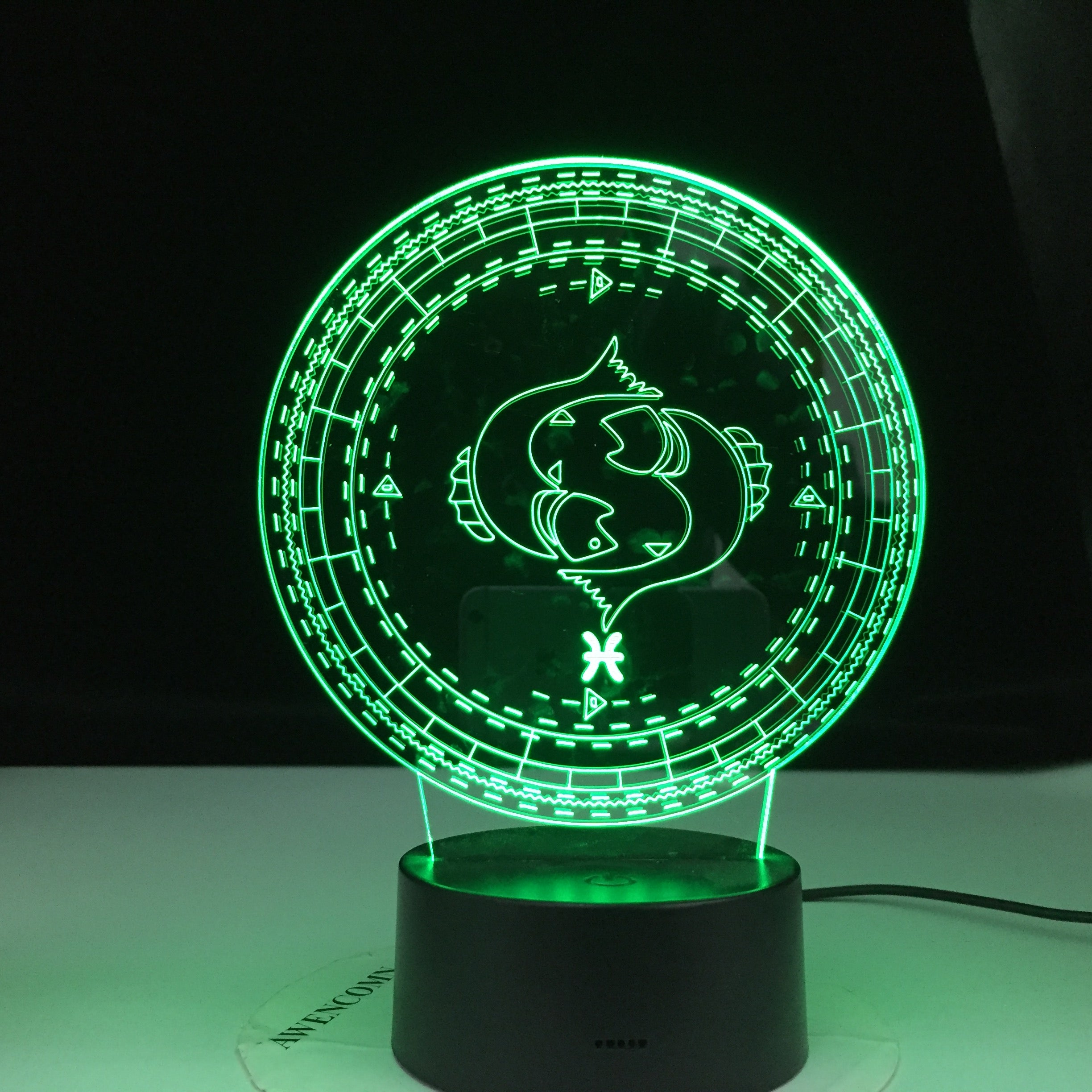 Pisces Twelve Constellation Lamp Kids Night Light Led Colorful Touch Sensor Nightlight for Home Decoration Light Birthday Gift