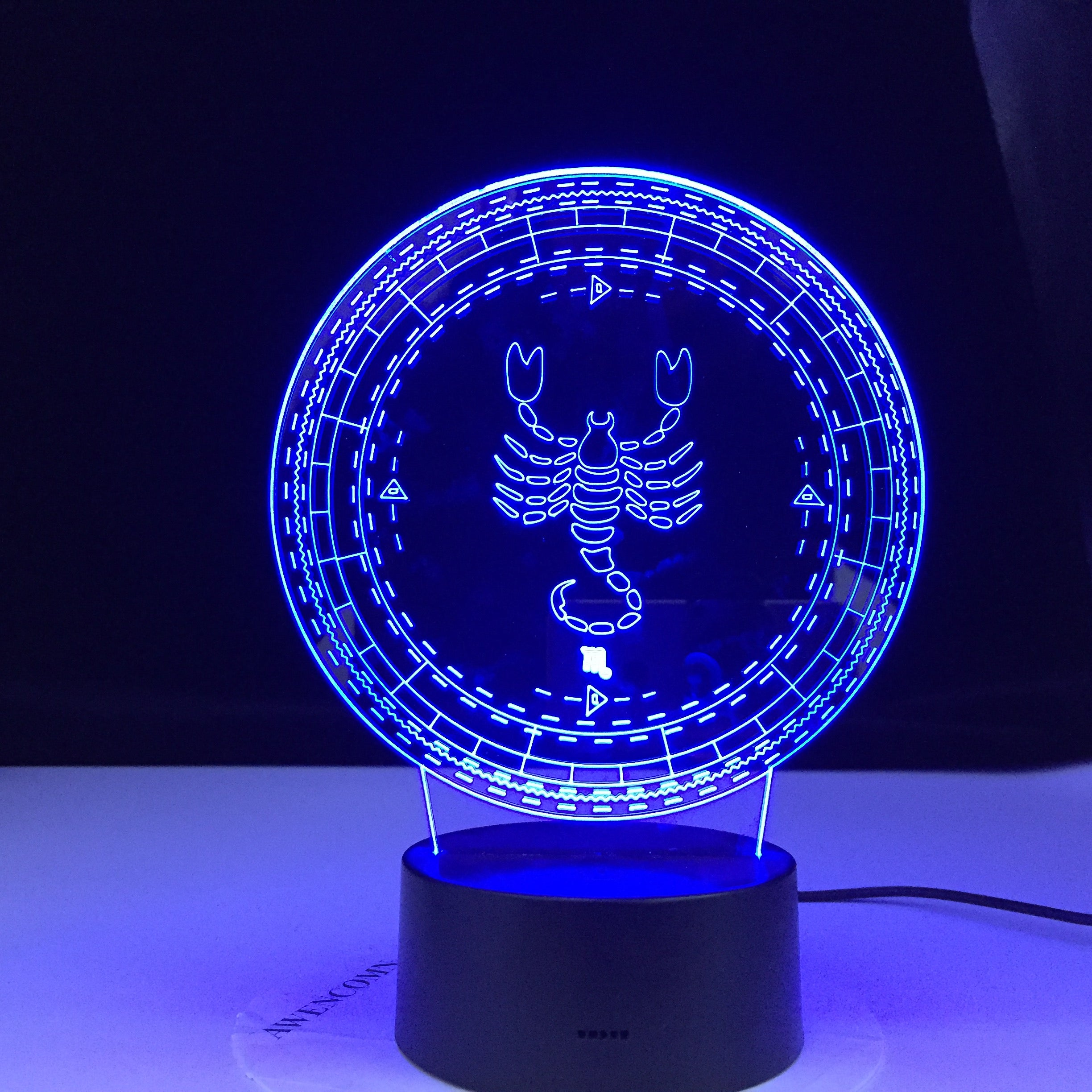 Scorpio Twelve Constellation Lamp Kids Night Light Led Colorful Touch Sensor Nightlight for Home Decoration Light Birthday Gift
