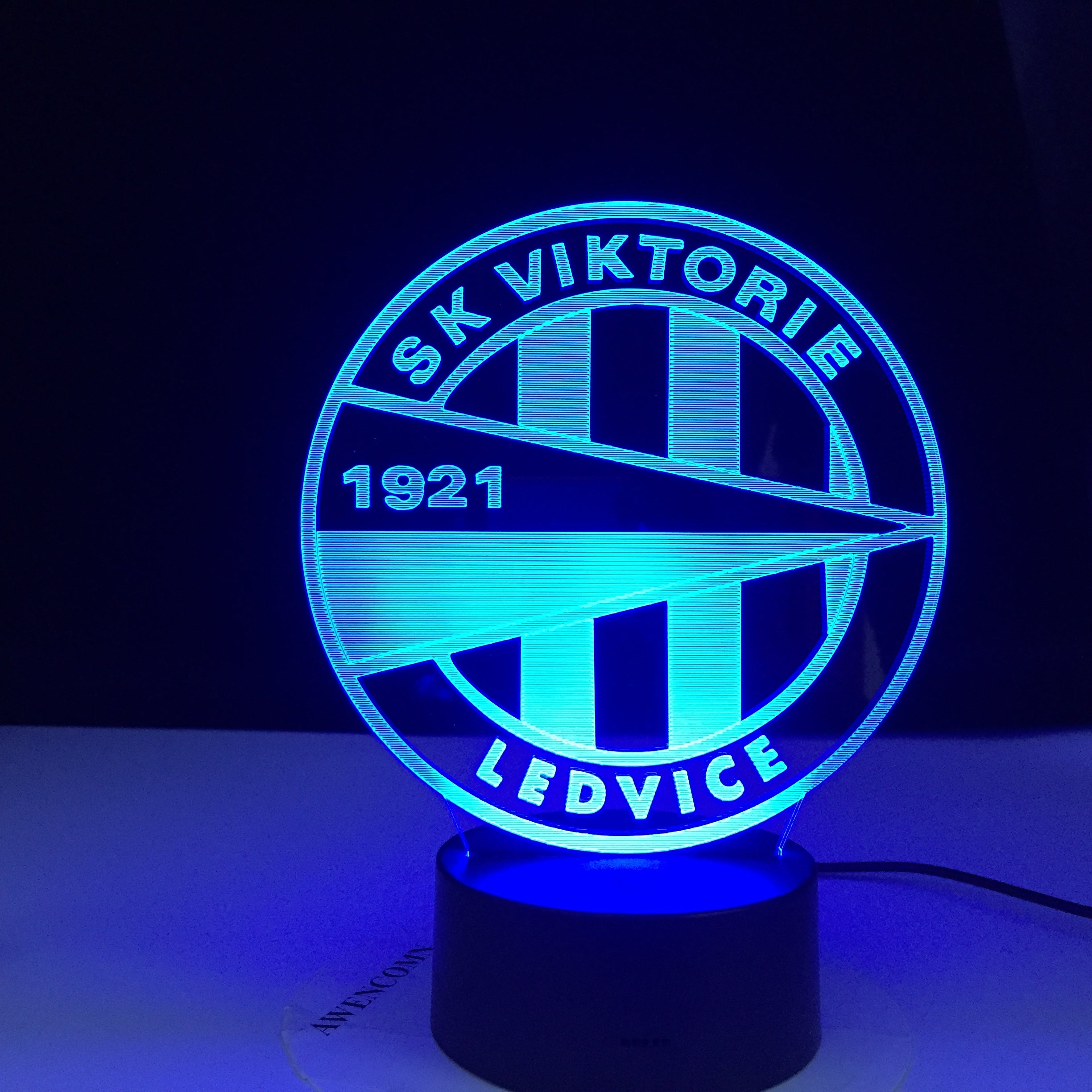 SK Viktorie 1921 LEDVICE Soccer Club Led Night Light 3d Illusion Colors Changing Nightlight for Home Decoration Bedside Lamp