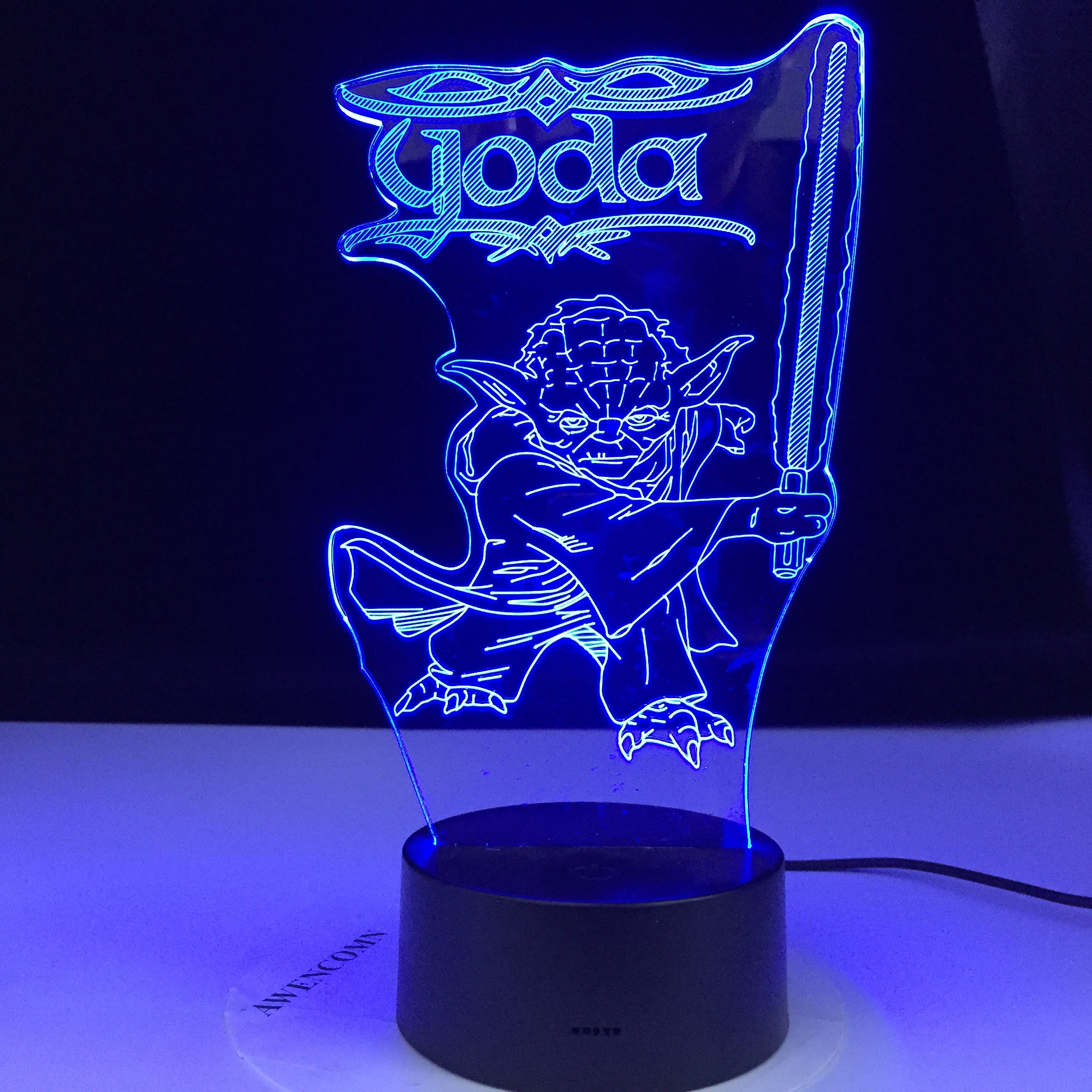 3d Led Night Light Star Wars Yoda Figure Desk Lamp for Kids Bedroom Decor Table Lamp Children Projection Light Star Wars Yoda
