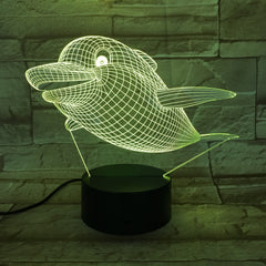 Dolphin New 3D LED Night Light Lamp Touch Control 7 Color Changing USB Touch LED Desk Table Lamp Birthday Mother's Gift AW-670