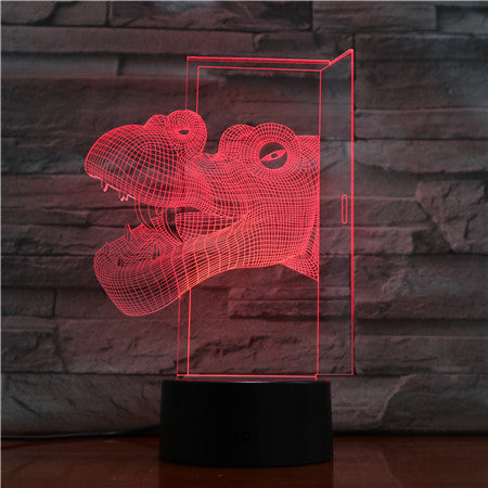 Hippo Head 3D LED Lamp USB Touch Remote Night Light Creative Animal Lamparas Home Bar Party Cool Table Beside Decoration 1512