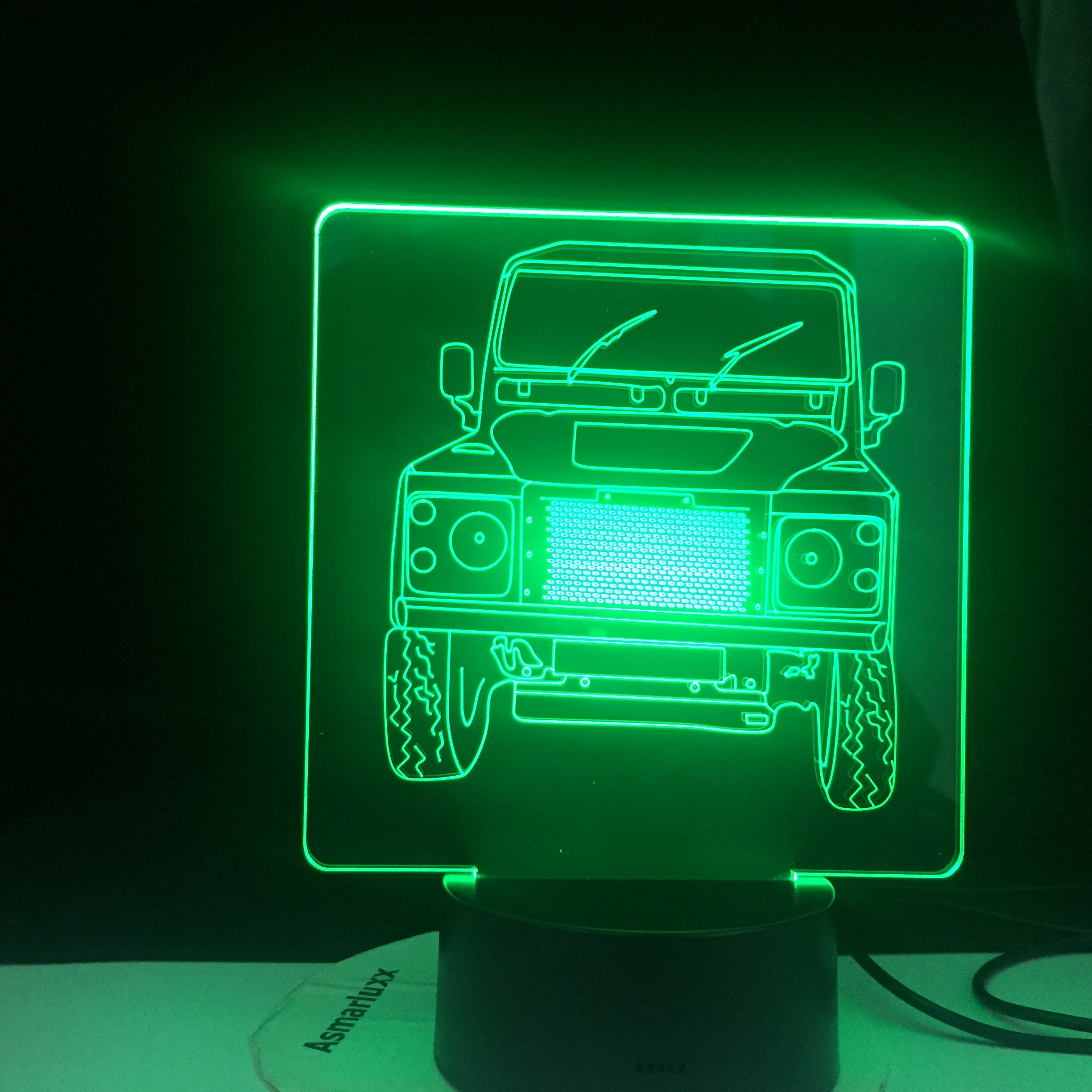 Offroad Landrover Car 3d Illusion Led Night Light for Child Bedroom Decorative Nightlight Unique Gift for Kids Room Desk Lamp