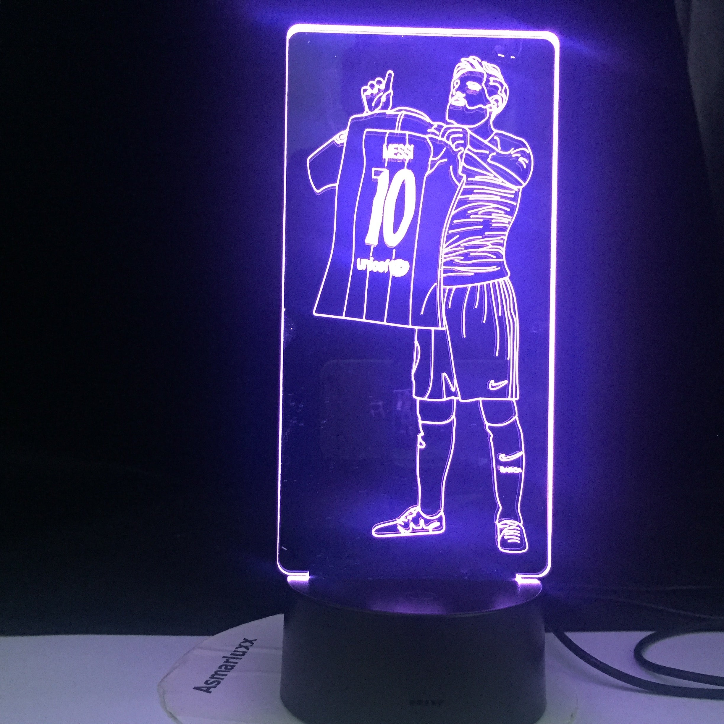 Messi Football Star 10 Figure Led Night Light for Home Room Decoration Nightlight Something about Football Gift Table 3d Lamp