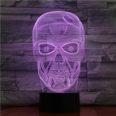 Skull 1 - 3D Optical Illusion LED Lamp Hologram