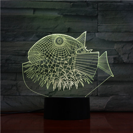Puffer Fish 3D Night Lights 3D USB LED Lamp Animal 7 Colors Changing Desk Table Lamp Home Decor For kids Friend Gift 1457