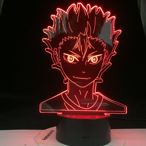 Haikyuu Nishinoya Yuu Figure for Kids Child Bedroom Decor Nightlight Rgb Colorful Desk Led Night Light Manga 3d Lamp Anime Gift