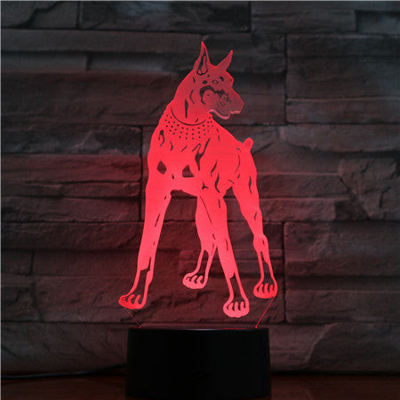 3D Dog Colorful Table Lamp Touch Control 7 Color Changing Acrylic Baby Night Light USB Decorative Kids Christmas Gifts 1419