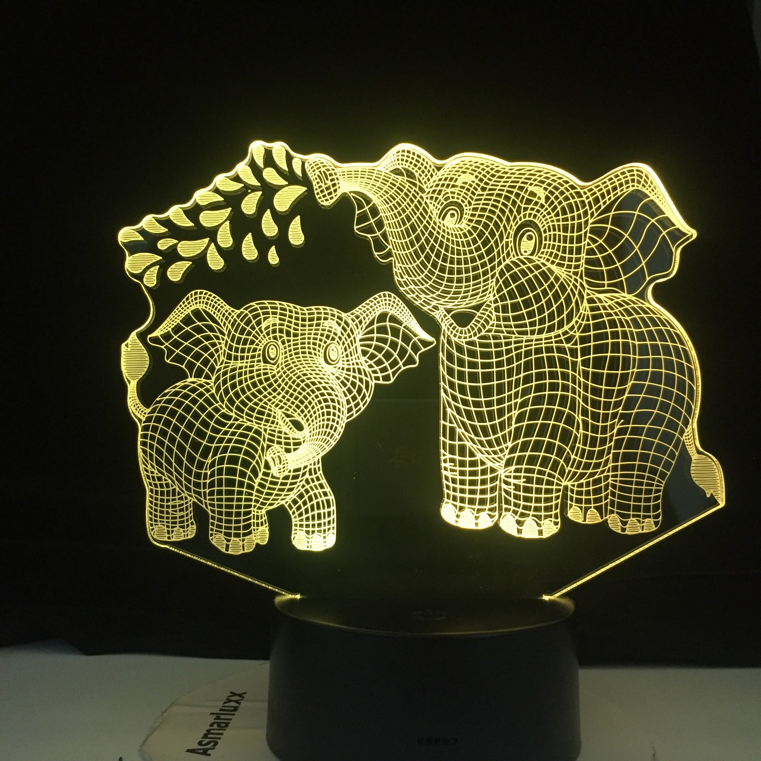 Touch Led Lamp 3D Night Light Elephant Series 7/16 Colors Change LED Table Desk Lamp Kids Christma Gift Home Decoration D30