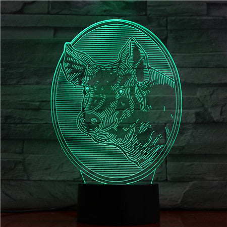 Boar - 3D Optical Illusion LED Lamp Hologram