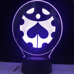 JoJo's Bizarre Adventure Logo Manga Design Led Night Light Touch Sensor Colorful Nightlight for Kids Bedroom Decor 3d Lamp Gift