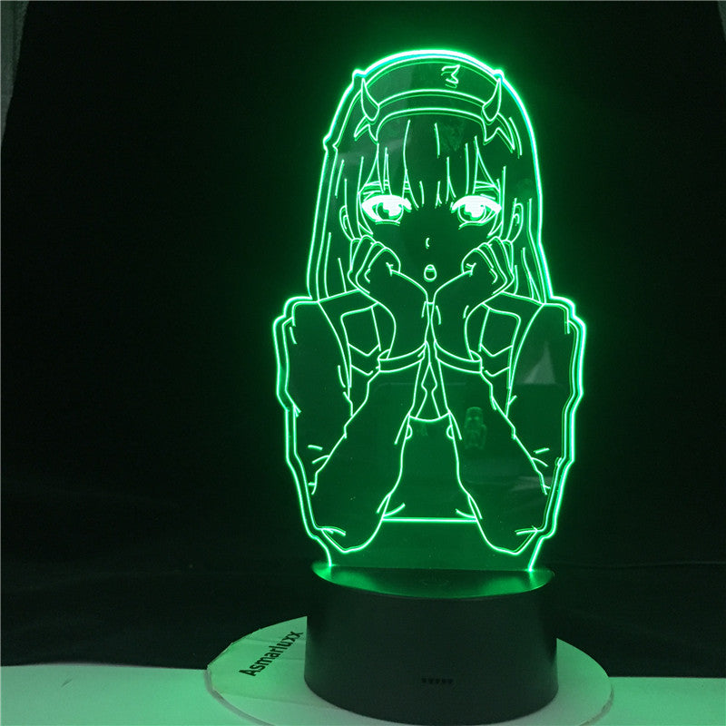 Zero Two Figure Nightlight Kids Child Girls Anime 3d Lamp Bedroom Decor Light Manga Gift Night Light Lamp Darling In The Franxx