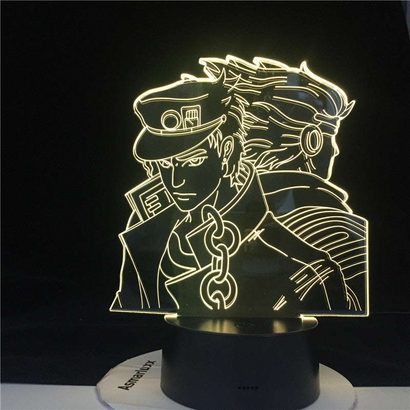 JOTARO STAR PLATINUM LED ANIME 3d LAMP JOJO'S BIZARRE ADVENTURE Led Night Light Touch Sensor Colorful Nightlight for Home Decor