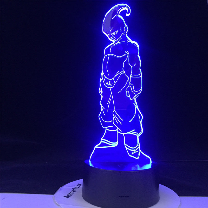 KID BUU LED ANIME LAMP DRAGON BALL Z SUPER Figure Acrylic Led Night Light for Kids Bedroom Decor Nightlight 3d Illusion Light