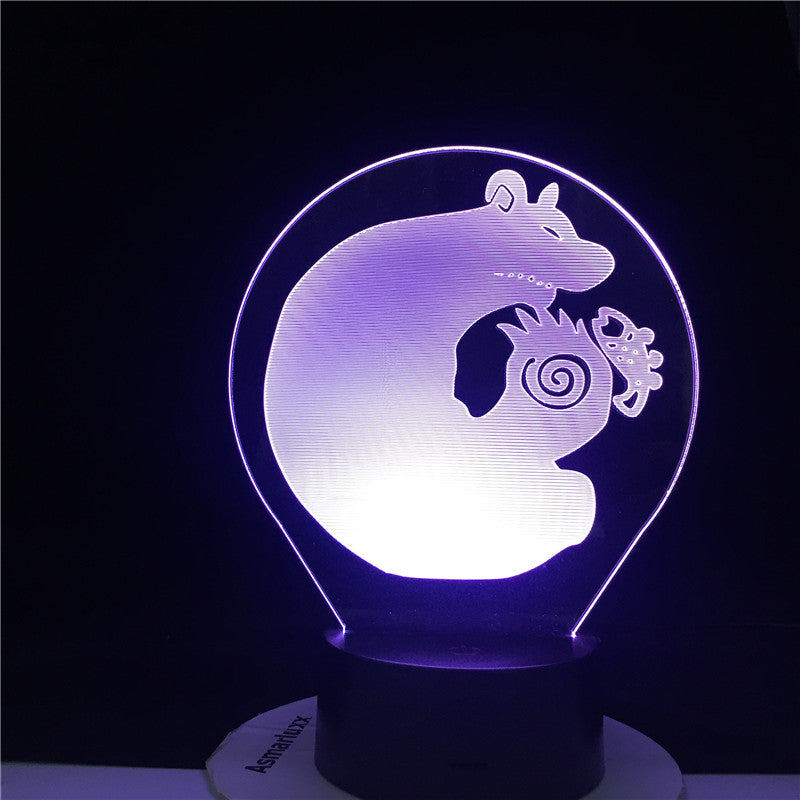 KING GRIZZLY BEAR SLOTH LED ANIME LAMP THE SEVEN DEADLY Manga Gift Anime 3d Lamp Night Light Lamp Otaku Gift Fast Dropshipping