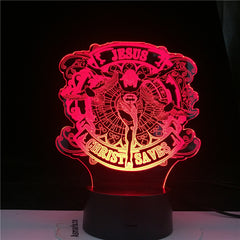 Jesus Figure Character 3d Table Lamp for Children Bedroon Decoration Led Remote Control Night Light Table LED Light
