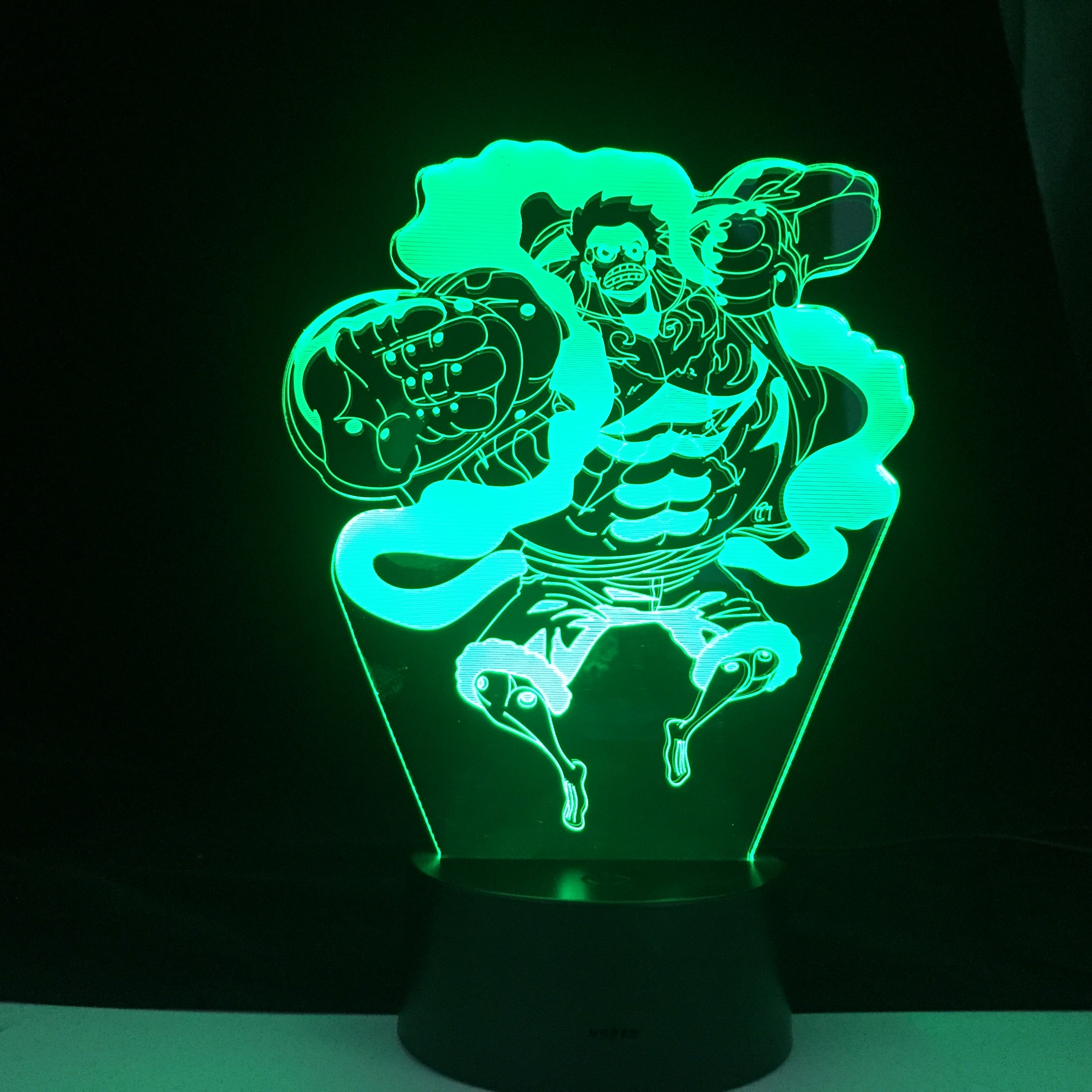 Gear Fourth Figure One Piece Luffy 3D Led Light Home Decor 7 Color Changing Kids Children Holiday Gift Remote Control Gift
