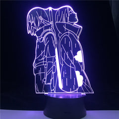 Best Top Naruto Uchiha Itachi Action Figure 3D Optical Illusion LED Table Lamp for Boy Bedroom Decor Gifts Light Dropshipping