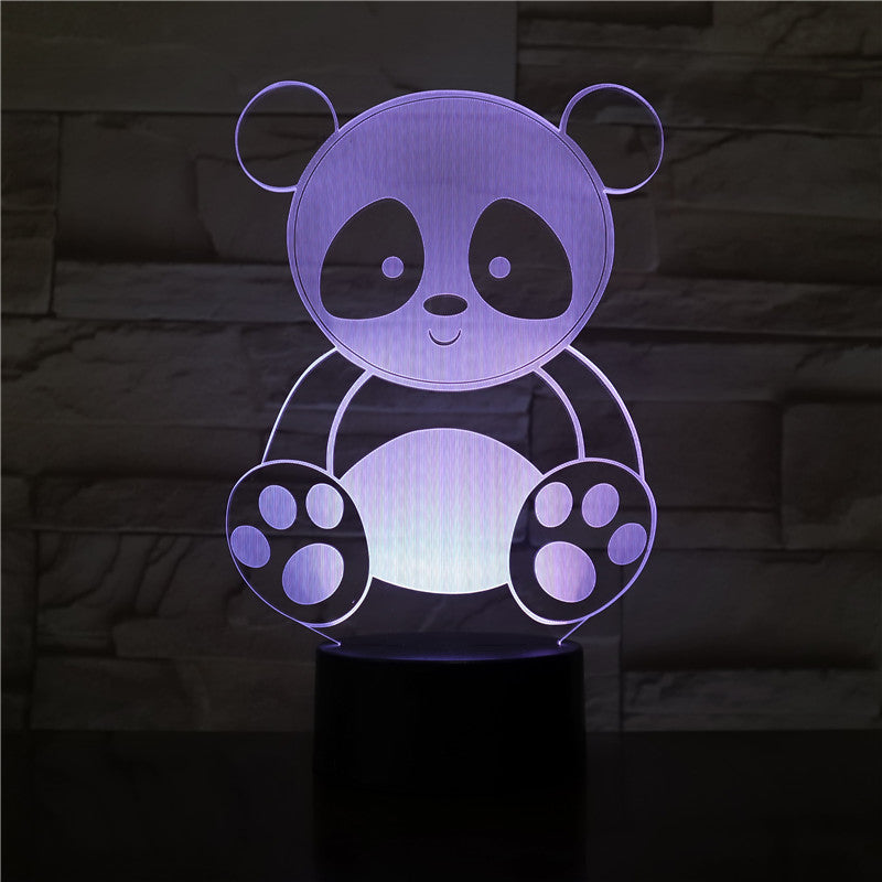 Cute Panda 3D Night Light Creative Electric 3D Night Lamp 7 Color changing USB touch Table Lamp For Kid's BirthGift 3201