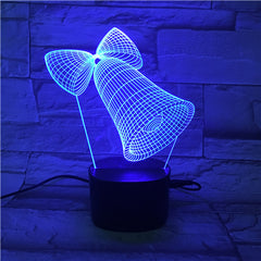 Bell  - 3D Optical Illusion LED Lamp Hologram