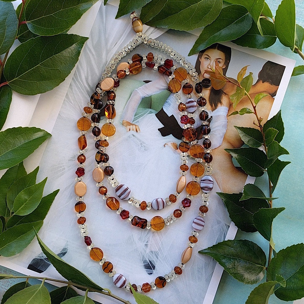 Amber Boho Beauty Necklace