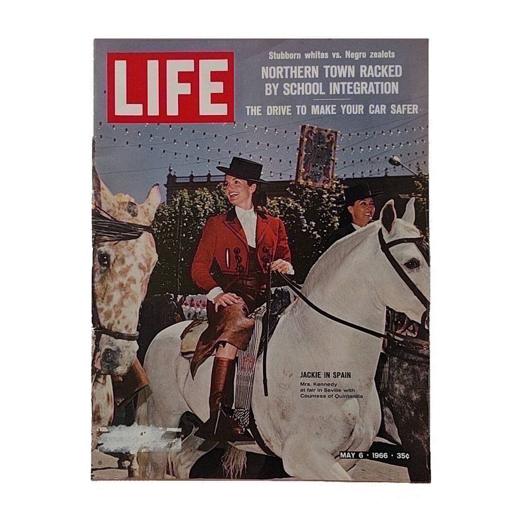 life magazine from may 1966 showing Jacqueline Kennedy on a white horse (3)