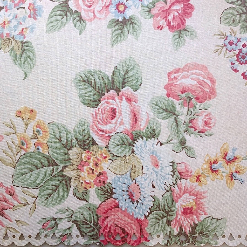 ornate and elegant cotton placemats - plain image zoomed in on placemat floral design