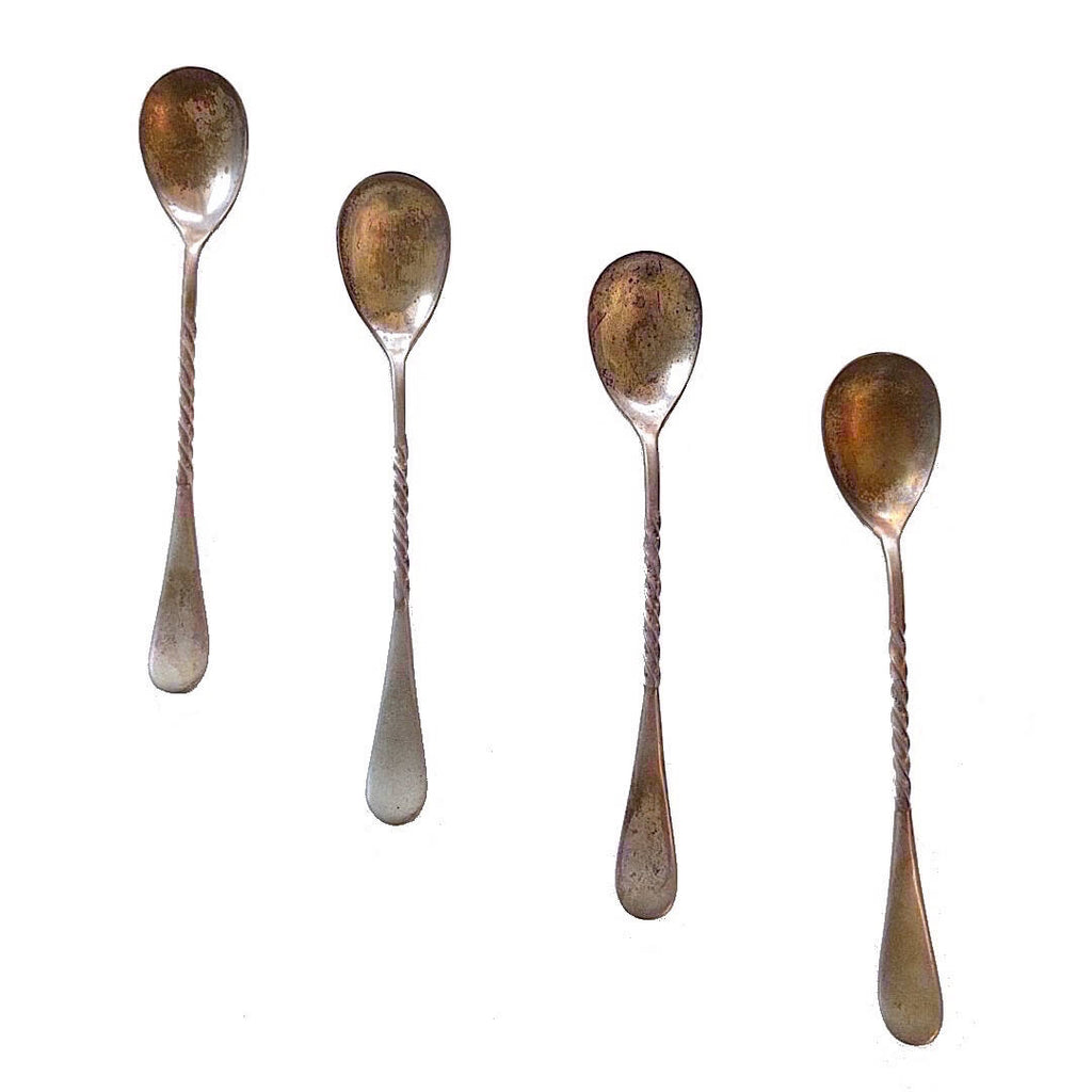 antique silver plated teaspoons from 1930s (3)