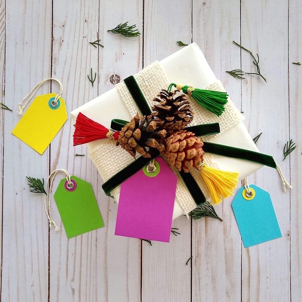 example gift box showing Bella Bohemian gift tags