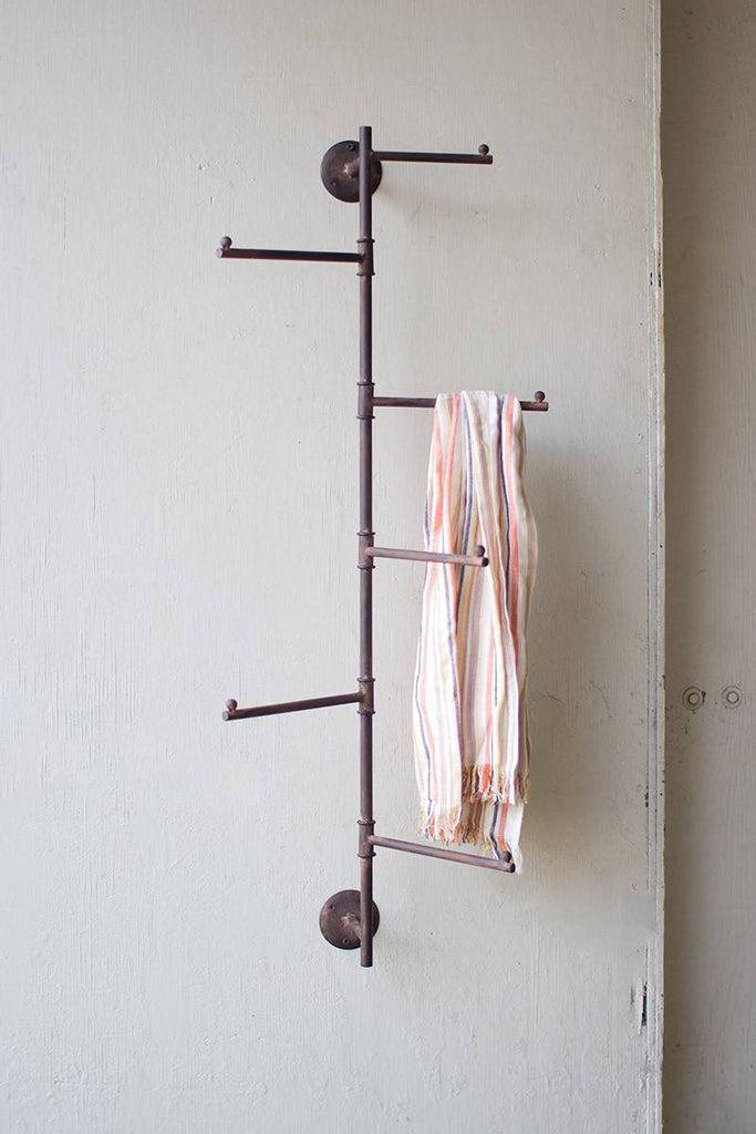 rustic coat rack that swivels