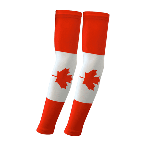 Canada Flag Arm Sleeve Pair (2 Sleeves) - sportskneetherapy