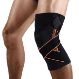 Compression Knee Sleeve with Support Straps - sportskneetherapy