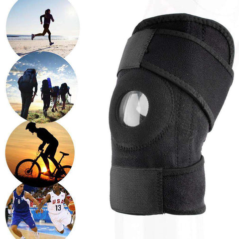 Adjustable Sports Knee Support Brace with Open Patella