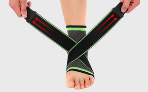 3D Compression Ankle Brace with Support Straps