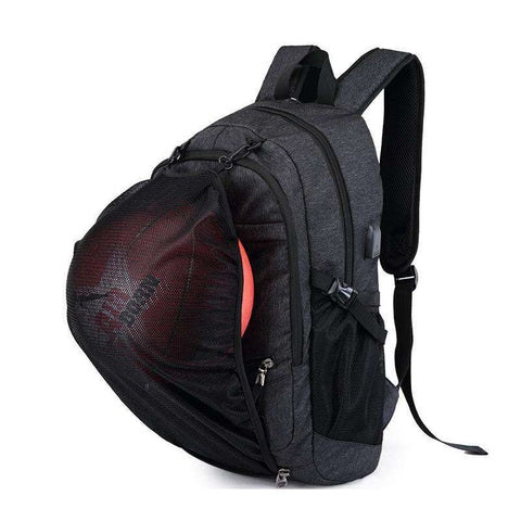"The ""Baller Bag"" Sports Backpack with USB Charging Port - sportskneetherapy"