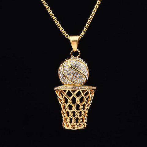 Hooper Basketball Necklace - sportskneetherapy