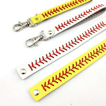 Load image into Gallery viewer, Baseball Stitch Keychain - sportskneetherapy