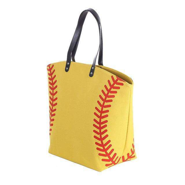 Yellow Baseball Tote Bag - sportskneetherapy