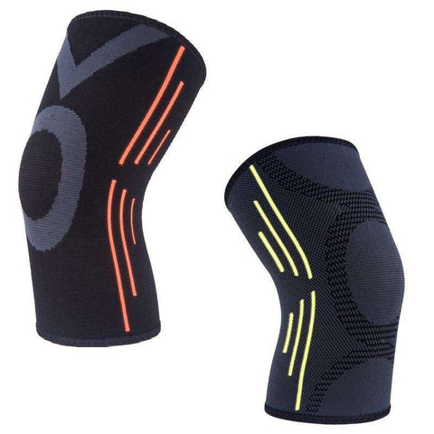 Sports Compression Knee Sleeve with Neon Stripes - sportskneetherapy