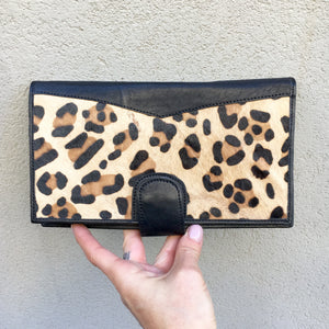 cowhide leather boho wallets and purses