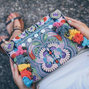 Corfu Boho Banjara Clutch Bag, Clutch Bag - KITTY KAT,