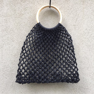 Larissa Woven Macrame Net Tote Bag, Tote bag - KITTY KAT,