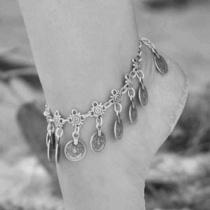 Skye Boho Coin Drop Anklet, Anklet - KITTY KAT,