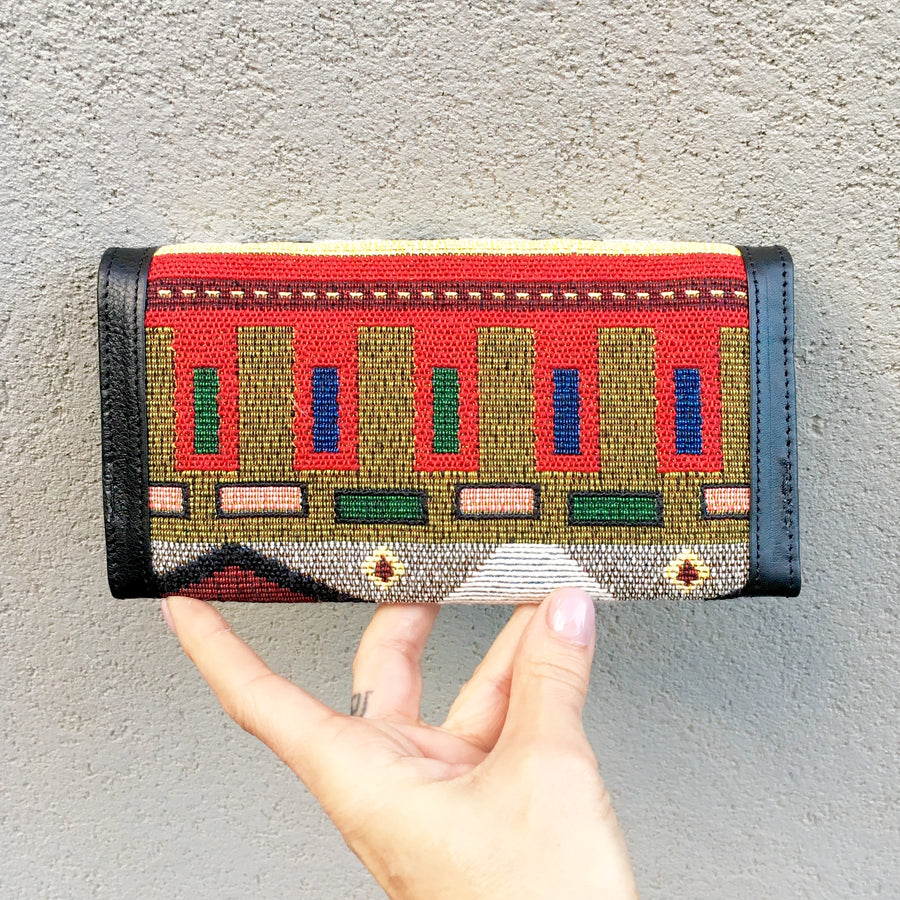 Apollonia Embroidered Bohemian Black Leather Wallets, wallets - KITTY KAT,