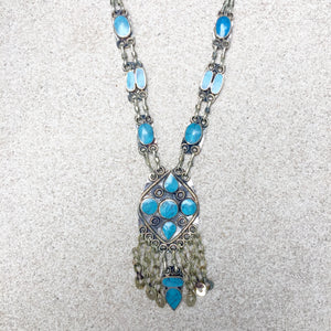 Kuchi Bohemian Festival Turquoise Necklaces, Necklace - KITTY KAT,
