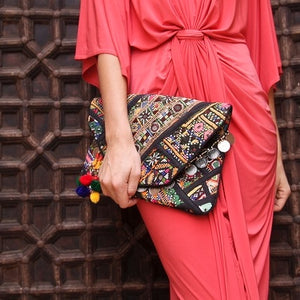 Nova Vintage Bohemian Banjara Clutch Bag, Banjara Clutch bag - KITTY KAT,