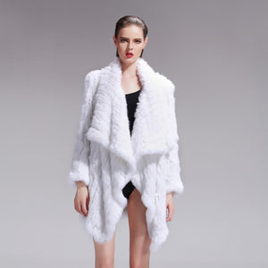 Klara White Rabbit Fur Jacket - KITTY KAT