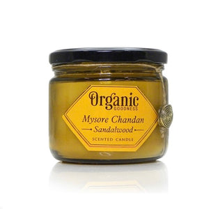 Sandalwood Essential Oil Infused Organic Soy Candle, Candle - KITTY KAT,